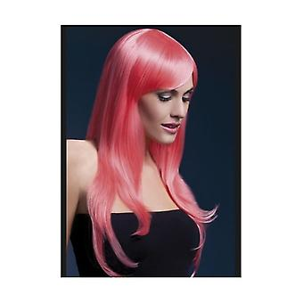 Smiffy's Fever Sienna Wig, 26inch/66cm, Pastel Coral