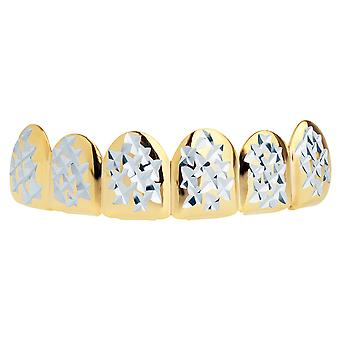 Hip hop Grillz - taglia unica tutti - Diamond Cut II - top