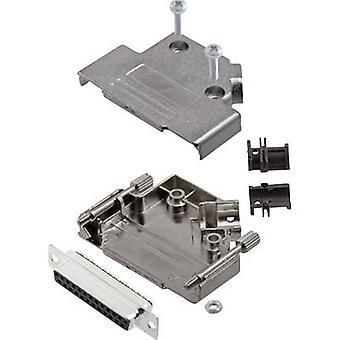 encitech D45PK-M-25-DBS-K 6355-0009-13 D-SUB receptacle set 45 ° Number of pins: 25 Solder bucket 1 Set