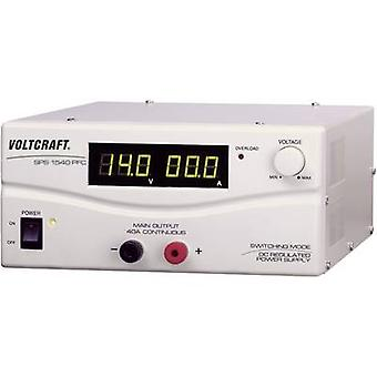 VOLTCRAFT SPS 1540 PFC Bench PSU (adjustable voltage) 3 - 15 V DC 4 - 40 A 600 W Remote No. of outputs 1 x