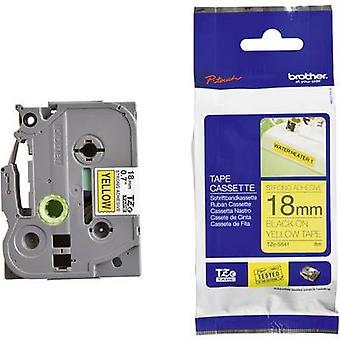 Etichettatura nastro (adesivo extra forte) Brother TZe, colore nastro TZe-S641 TZ: Font giallo colore: nero 18 mm 8 m