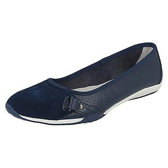 Ladies Down To Earth Flat Casual Ballerinas F80260
