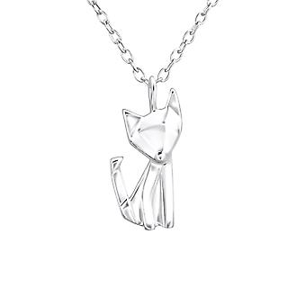Origami Fox - 925 Sterling Silver Plain Necklaces - W26035x