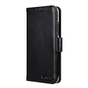 Cas de portefeuille MELKCO pour iPhone X/XS-Black