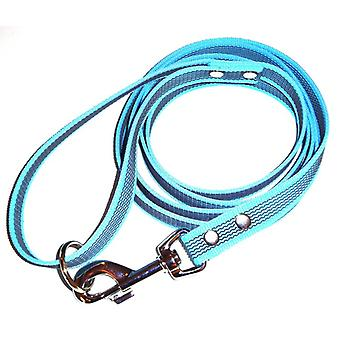 K9-Sport Super-Grip leash with handle, turquoise