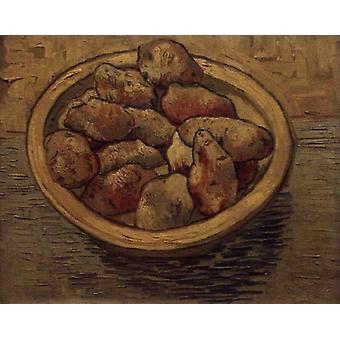 Style Life mit Kartoffeln im Schussel, Vincent Van Gogh, 50x40cm