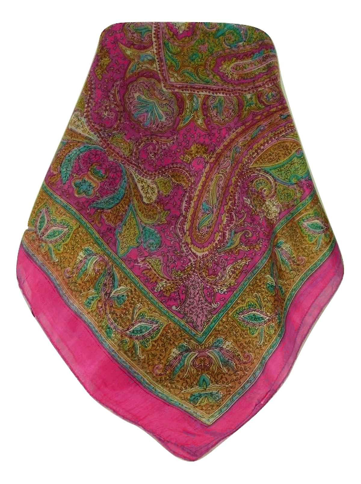 Mulberry Silk Traditional Long Scarf Ramsej Pink by Pashmina & Silk