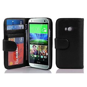 Funda Cadorabo para HTC ONE M8 MINI (2a generación) Cubierta de la caja - Caja de la caja del teléfono con cierre magnético y 3 compartimentos de la tarjeta - Caso de la funda caso caso del libro plegable estilo plegable estilo de plegado