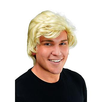 Man's Blonde Side Parting Wig.