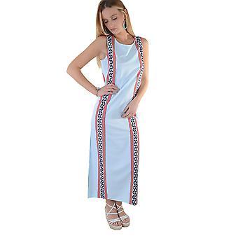 Lovemystyle Pastel Blue Maxi Dress With Side Split - SAMPLE