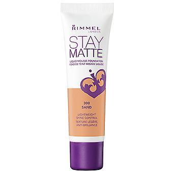 Rimmel Stay Matte Foundation 300 Sand 30ml