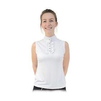 HyFASHION Womens/Ladies Katherine Ruffle Sleeveless Show Shirt