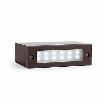 Faro - Indi-1 mörkgrå LED utomhus infällda vägg ljus FARO70632