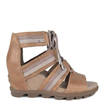 Sorel Joanie Ii Ash Brown Lace Wedge Sandal
