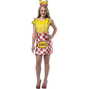 Pommes frites kvinnliga kostym