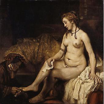 Bathsheba, Rembrandt, 50x50cm