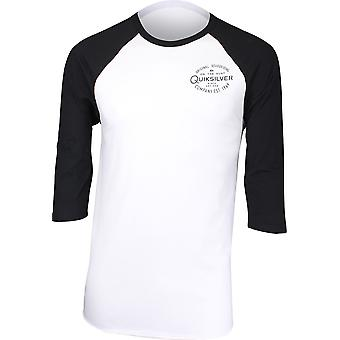 Quiksilver Mens Hunters Patch 3/4 Raglan Shirt - White/Black