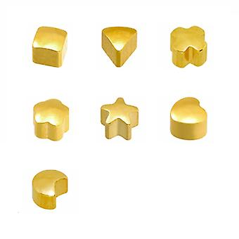 Caflon 24CT Gold Plated - Assorted Shapes Stud (12 Pack)