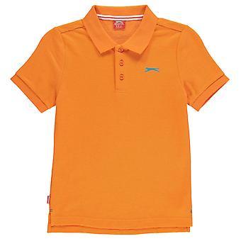 Slazenger Kids Junior garçons ordinaires Polo manches courtes T Shirt Tee Top vêtements
