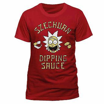 Rick e Morty Adulti Unisex Adulti Szechuan Salsa T-Shirt