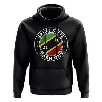 Saint Kitts ja Nevis Football Badge huppari (musta)