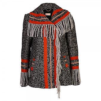 MW by Matthew Williamson Tassle Stripe Wool Jacket