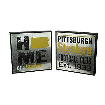 NFL Pittsburgs Steelers Football Club and Home State Wall Hangings