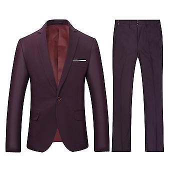 Alle Themen Herren 2-teilig Classic Suits One Button Casual&Formal Slim Fit Suits Hochzeit Blazer&Hose
