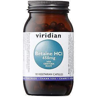 Viridian البيتين HCl 650mg مع جنتيان فيج كابس 90 (471)