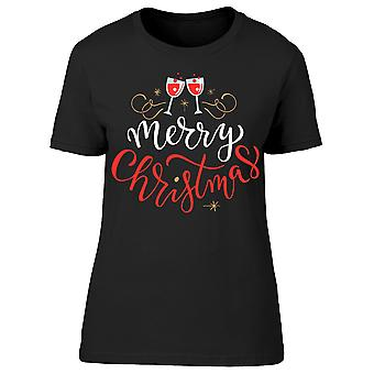 Merry Christmas Drinks Tee Women's -Image by Shutterstock