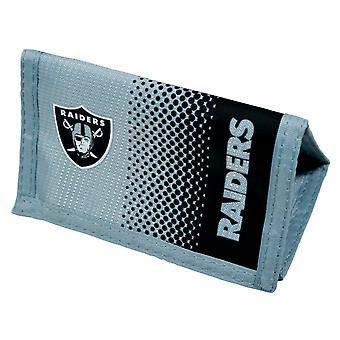 Oakland Raiders Official NFL  Fade Crest Design Wallet