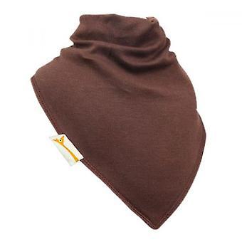 Brown plain xl bandana bib