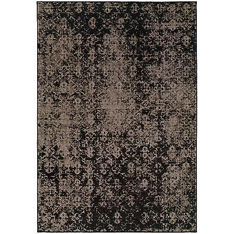 Revival 216e2 grey/black indoor area rug rectangle 9'10