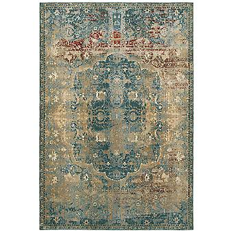 Empire 4449h gold/ blue indoor area rug rectangle 6'7