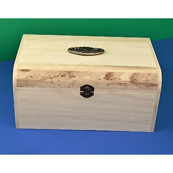 Cofre de madera de 29.5cm con cierre de metal y mango para decorar para artesanías