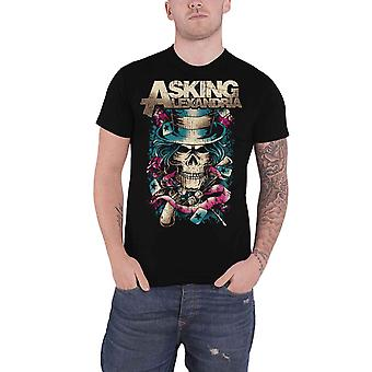 Fragen Alexandria T Shirt Hut Schädel Band Logo neue offizielle Herren schwarz