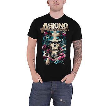 Spørger Alexandria T shirt hat Skull band logo nye officielle Herre sort