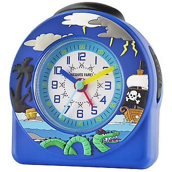 JACQUES FAREL Children's Alarm Clock Wekker analoge Quartz piraat jongens ACW 66 blauw