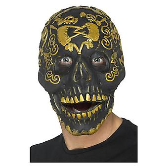 Mens Masquerade Deluxe Skull máscara Halloween Fancy Dress acessório