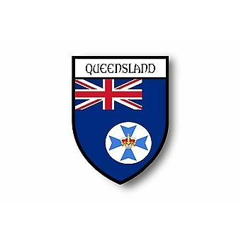 Autocollant Sticker Voiture Moto Blason Ville Drapeau Australie Queensland