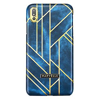 Marvêlle iPhone Xs Max Magnetic Case Golden Velvet Blue