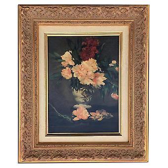 Kukat, öljy maalaus runko, 35x42 cm