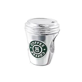 Kaffeetasse - 925 Sterling Silber Plain Beads - W19831x