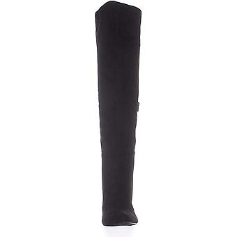 Material Girl MG35 Candice Over The Knee Boots, Black, 9.5 US