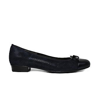 Ara Baribow 33760-67 Navy Suede Leather Womens Slip On Shoes
