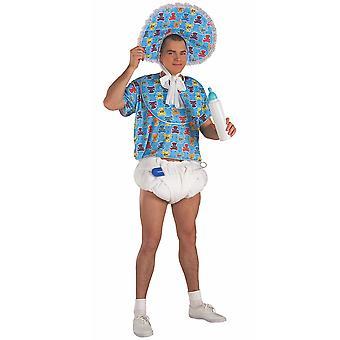 ベイビー ブルー ジャンボおしゃぶり安全ピンおむつ男性衣装キット