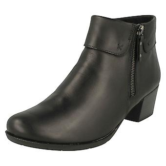 Ladies Remonte Warm Lined Heeled Ankle Boots R5674