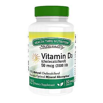 Vitamin D3 2.000iu (nicht GVO) (100 Softgels) - Health Thru Nutrition