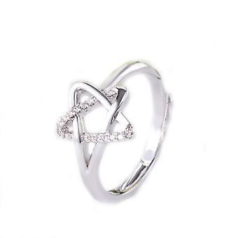 Crystal Star Ring & Örhängen Set