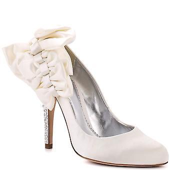 Bourne Women's Ivory Bow Detail Satin Bridal Shoes 36 UK 3